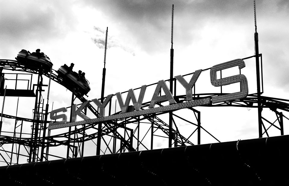 Skyways Rollercoaster in Southsea