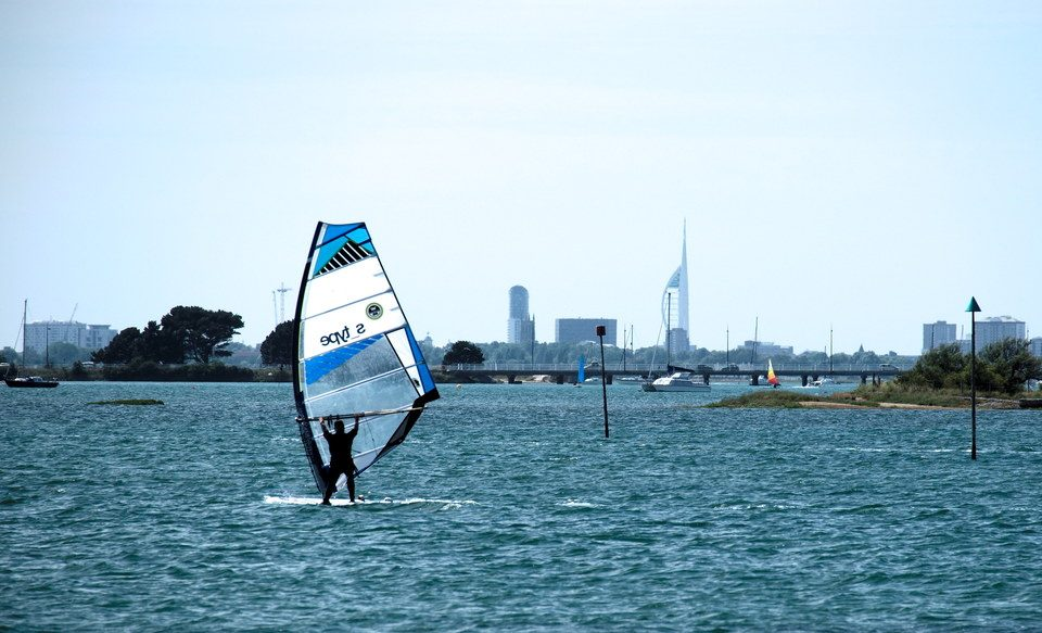 Windsurfing in Emsworth