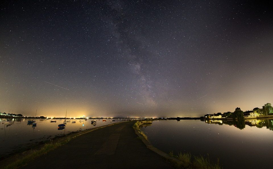 The Milkyway over Emsworth Harbour