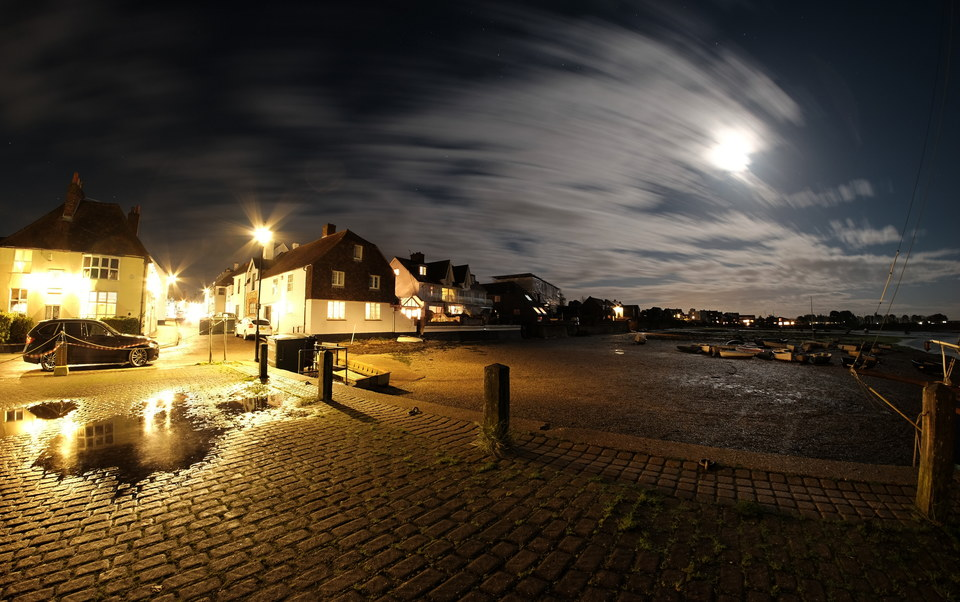 Emsworth Harbour and the Moon