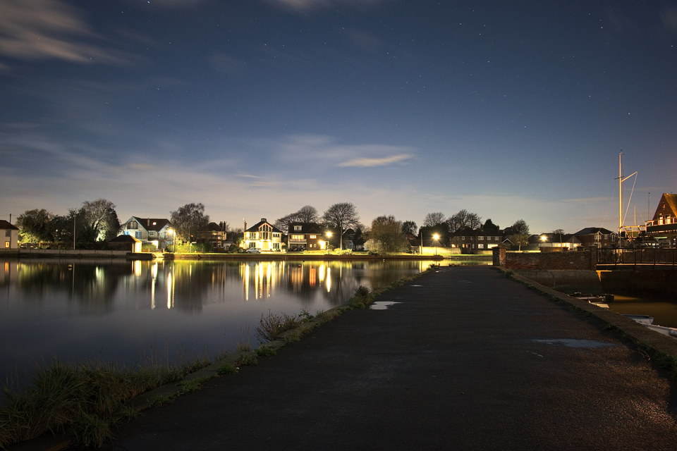 Emsworth Mill Pond at night