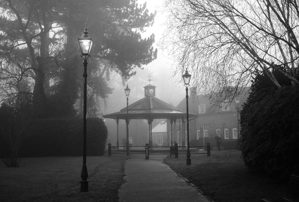 FUJIFILM X-E2 35mm f1.4 1/256s Horsham Park in the Fog
