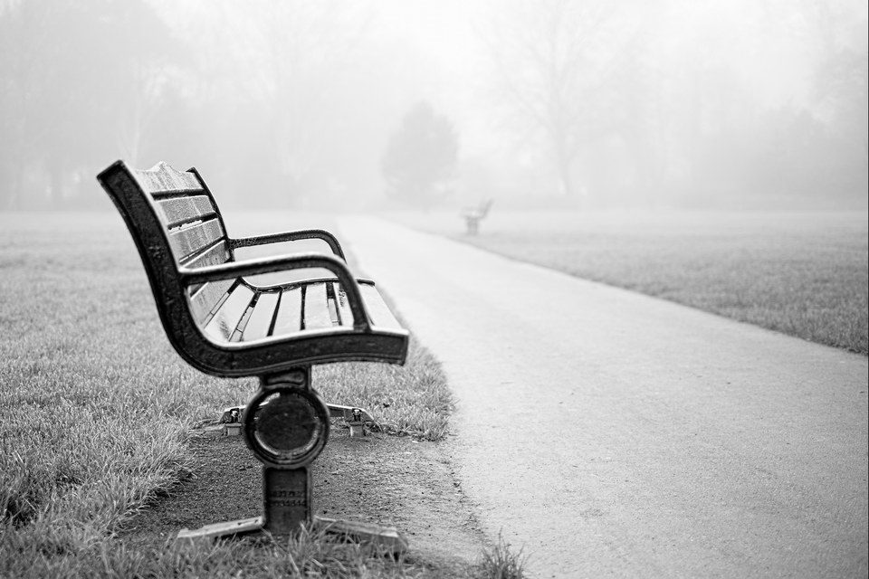 FUJIFILM X-E2 35mm f1.4 1/128s Lonely Bench - Horsham Park