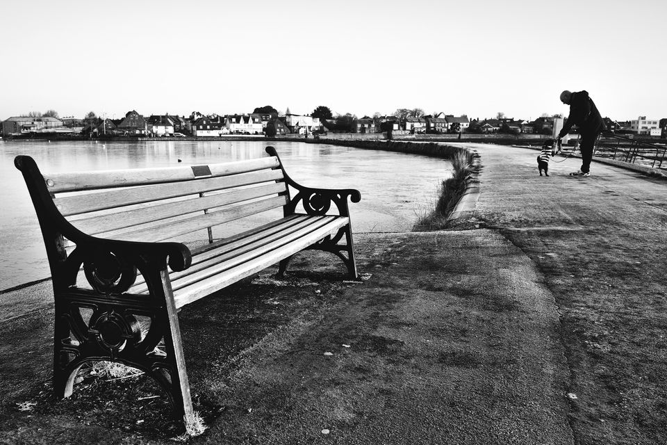 Emsworth Harbour Frozen Bench