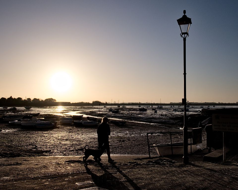 Sunrise in Emsworth Harbour with tide out