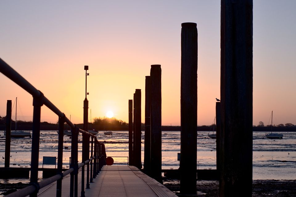 Sunrise over Emsworth Quay Jetty
