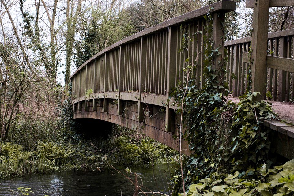 FUJIFILM X-E2 35.0 mm f8.0 1/125s Bridge into Emsworth Nature Reserve