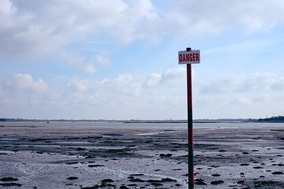 Danger Sign at Langstone Harbour