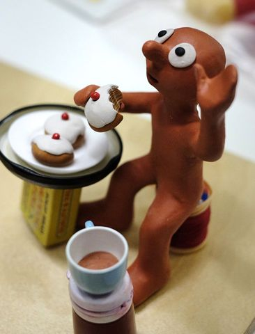 Morph having tea
