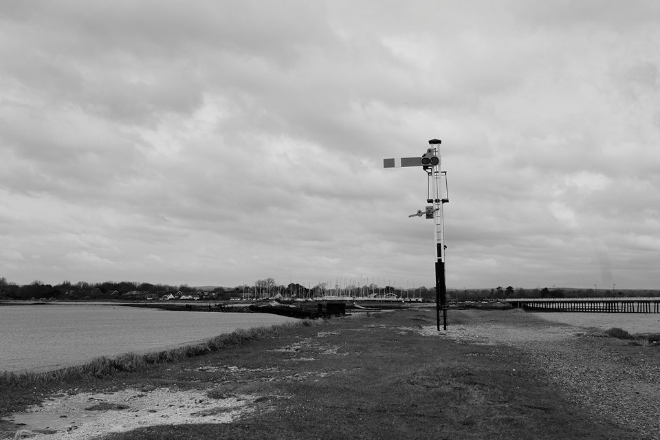 Signal post for the old Hayling Billy