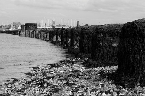 Remains of the Hayling Billy bridge