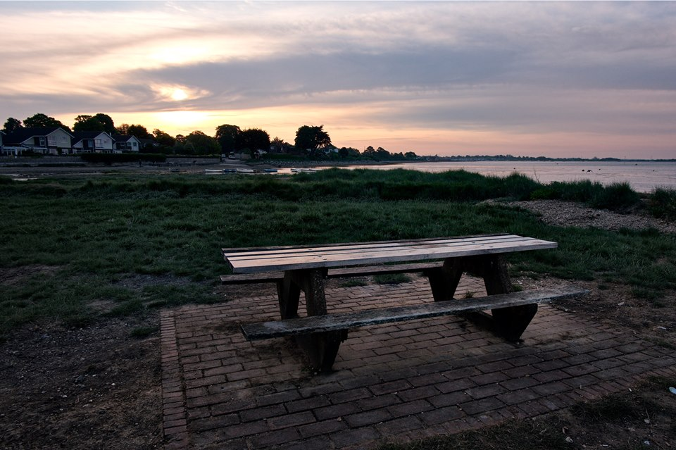Picnic Bench Sunrise