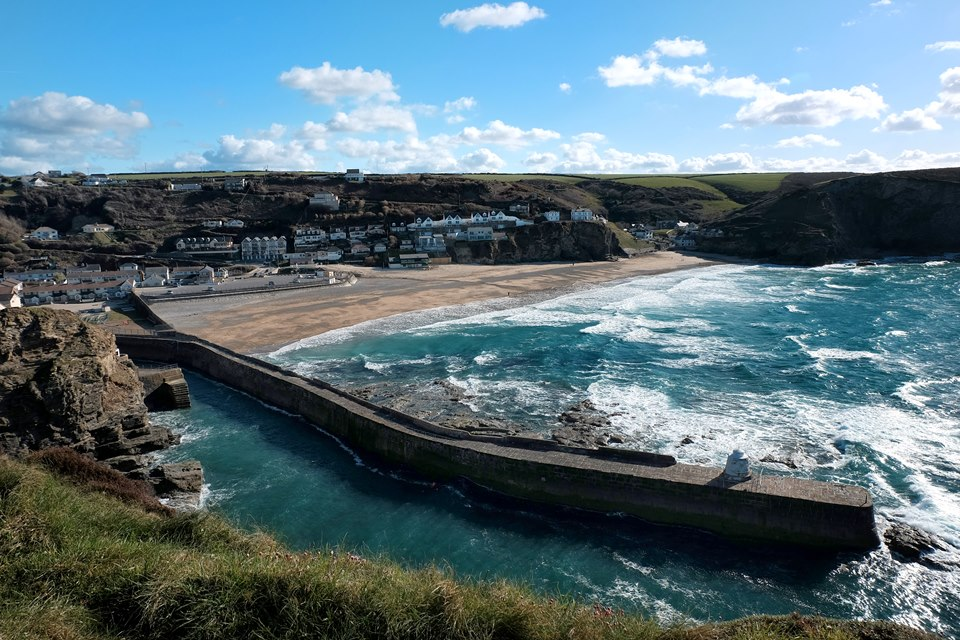 View of portreath from above