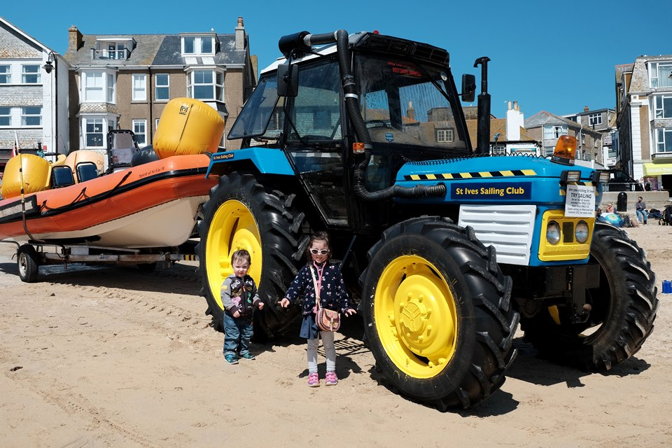 Tractor on St Ive's Beach